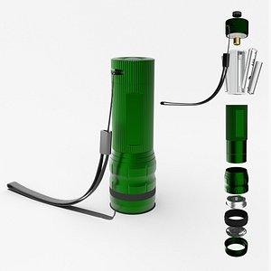 Flashlight Green 3D