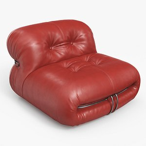 3D Soriana Lounge Chair Leather RB
