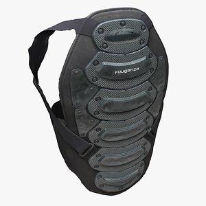 Clothes 244 Back Protector 3D model