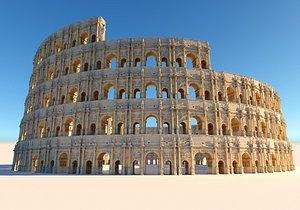 3D Mega Arena Colosseum model