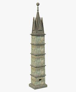 Fantasy Ancient Pillar Column 2 3D