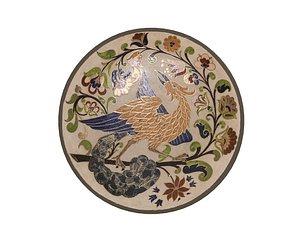 3D traditional plate 4 -bird