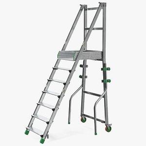 3D Aluminium Platform Ladder