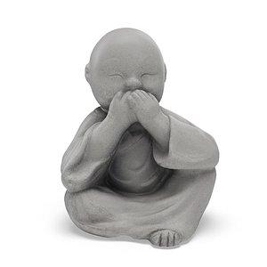 Buddha Speak no Evil Statue 3D