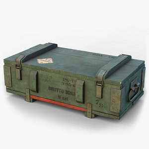ammo crate gameready lods 3D