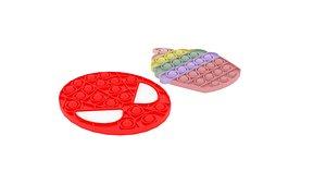 3D Pop It Fidget Toys Set model
