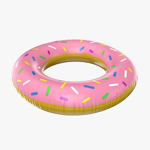 Inflatable Donut Ring 3D model
