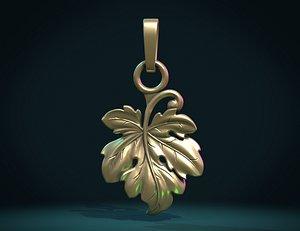 3D model Fig Leaf pendant