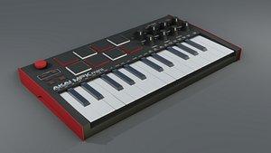 AKAI MPK mini Piano 3D model