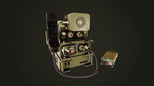 military radio station 3D model