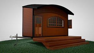 home mobile trailer tiny 3D model