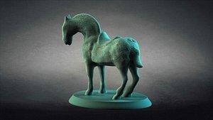 3D model BronzeHorse StoneHorse ancientunearthedculturalrelics art3dprinting