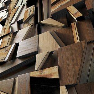 rail wood panel 3D model