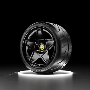 Car wheel TOYO PROXES R888R tire with HRE 505M rim 3D model