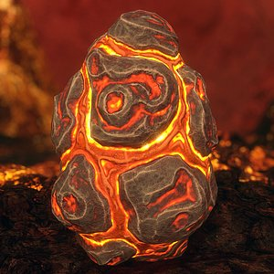 handpainted egg - 3D model