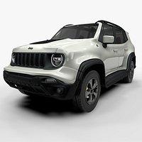 Jeep Renegade White Trailhawk 2019 L073 model