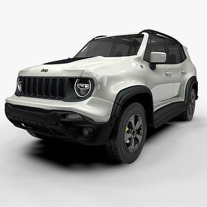 3D jeep renegade white trailhawk model