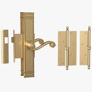 3D Door handle  01