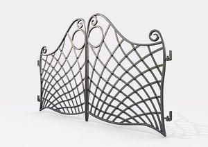 Ornate Decorative Gate 3 model