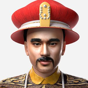 The emperor of Qing Dynasty 3D model