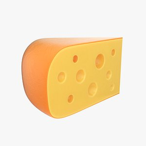 3D cheese wedge