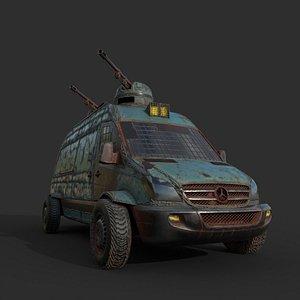 3D war van model