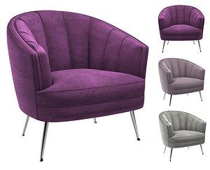 3D Uttermost Janie accent chair model