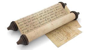 ancient scroll 1 3D model