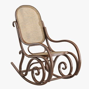 3D model realistic rocking chair