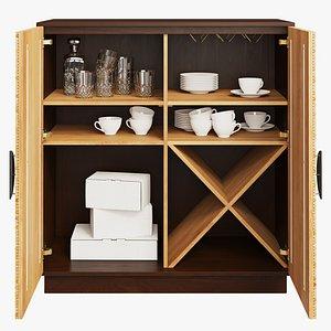 3D Joybird Rosetta Bar Cabinet