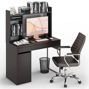 3D model Workplace iMac Orange