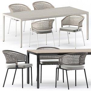 ILLUM table and CTR armchair 3D model