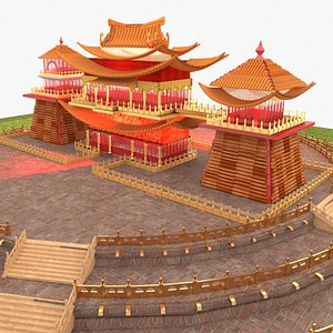 3D chinese palace house model