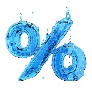 liquid symbol percent 3D model