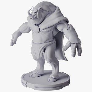 boar print 3D model