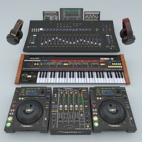Musical DJ instruments Collection.