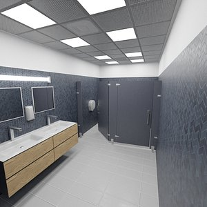 bathroom pbr 8k scene 3D model