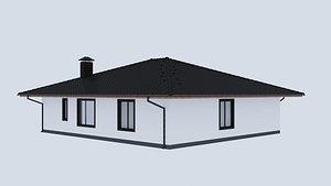 3D house architecture building model