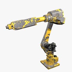 3D Mechanical industrial robotic arm model