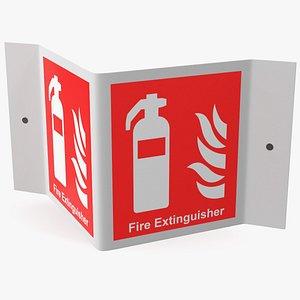 frame extinguisher sign 3D model
