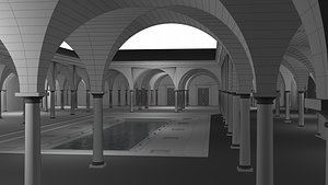 ancient atrium interior model