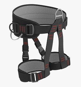 3D Adjustable climbing harness model