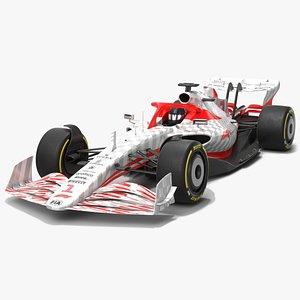 3D Formula 1 Season 2022 F1 Race Car Concept model