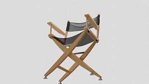 3D model director chair film