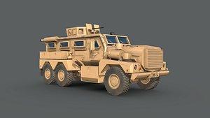 Cougar 6x6 MRAP 3D model