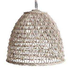 3D Open Weave Rattan Dome Pendant model