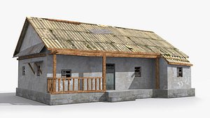 slum shanty hut 3D