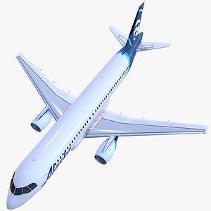 airplane airbus a320 aliaska model
