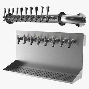 3D wall mount beer dispensers