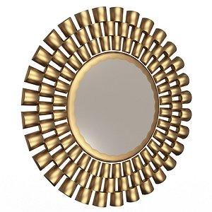 3D Round Mirror Wall Art Decor
